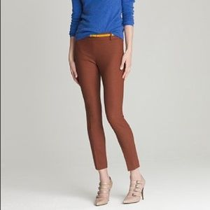 J.Crew Minnie Bi-Stretch Wool Rust Pant Cropped